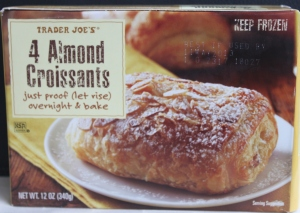 Trader Joe's 4 almond croissants