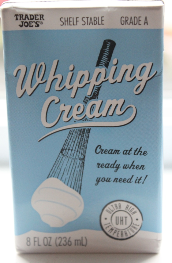 Trader Joes shelf stable whipping cream