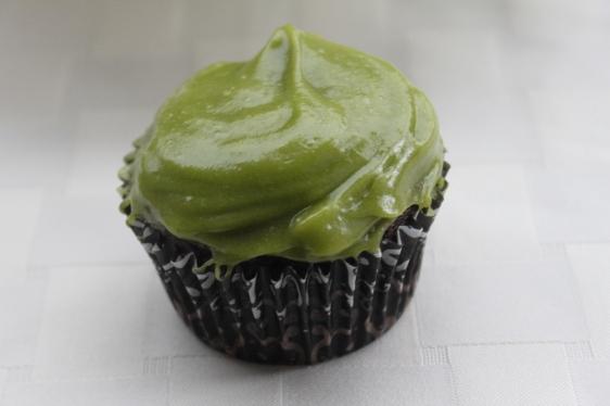 avocado cupcake