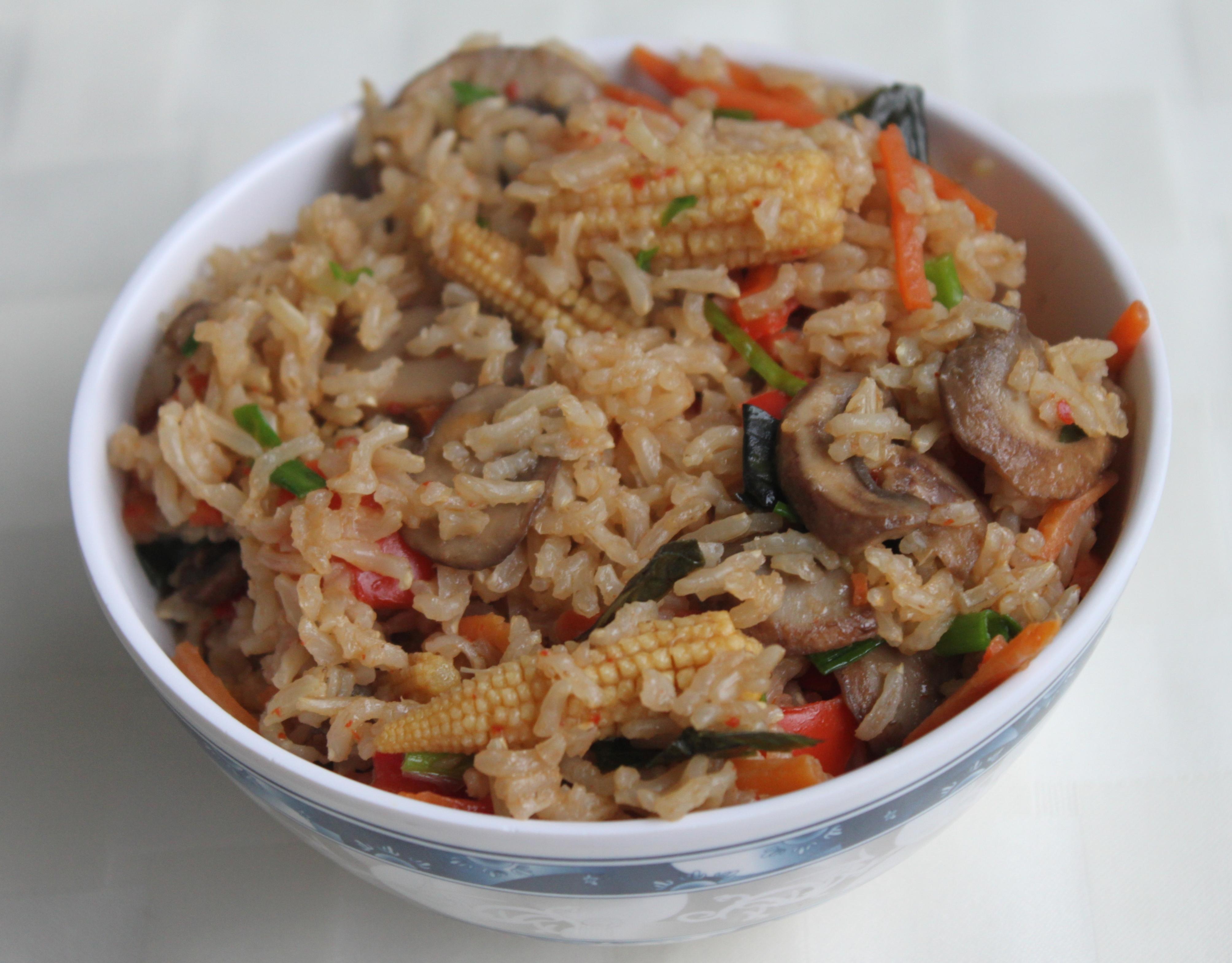 Vegan Thai Fried Rice With Nam Prik Pao | Eat,live,burp