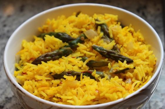 asparagus saffron rice pilaf