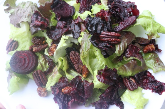 red lettuce salad with beets