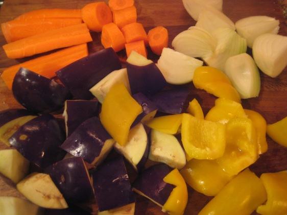 roasted italian veggies