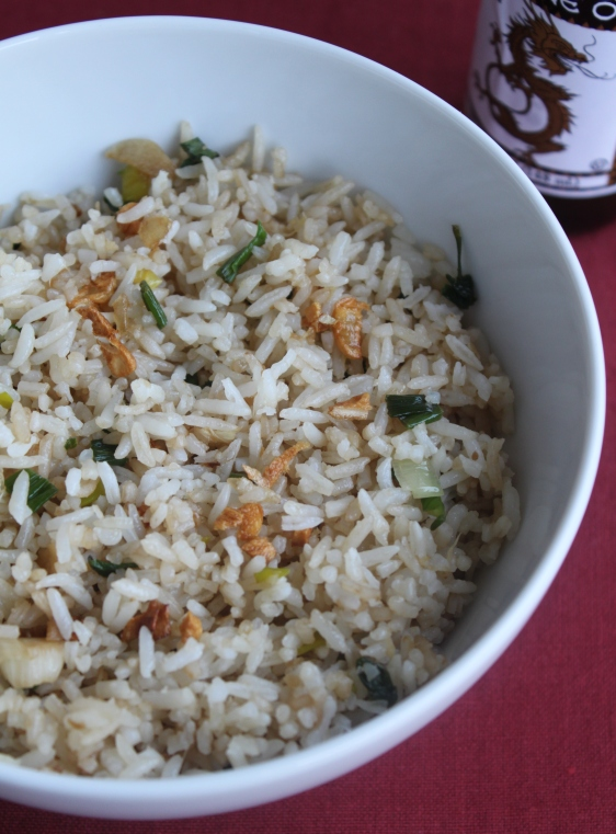 vegan ginger garlic fried rice