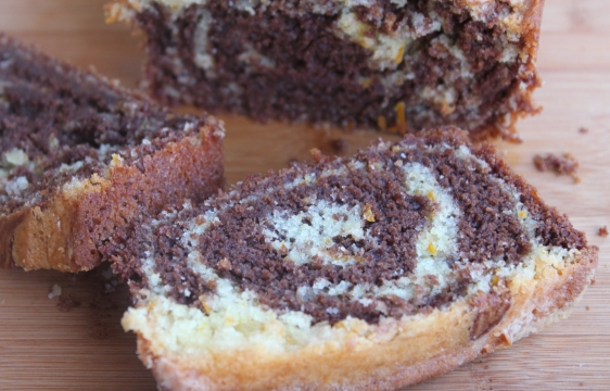 orange chocolate marble cake